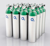 3D Isolated Oxygen Tank. Hospital equipment illustration Stock Photography