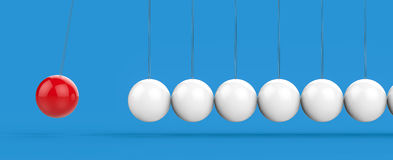 3D Isolated Pendulum Balls Ilustration. Business Teamwork Concep. T Stock Photography