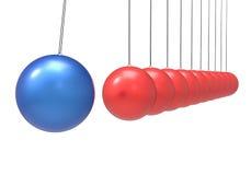 3D Isolated Pendulum Balls Ilustration. Business Teamwork Concep. T Stock Photo