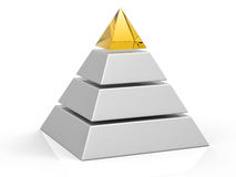 3D Isolated Pyramid Background Royalty Free Stock Photos