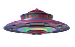3D Isolated UFO Extraterrestrial Spaceship. Invasion Concept Stock Photo