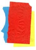 D'isolement aux pages de papier colorées blanches Image stock