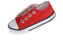 D'isolement dans des chaussures blanches de sports Image libre de droits
