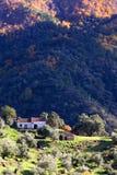 D'isolement, le passage shack vers le bas du côté de la montagne en Espagne Photo stock