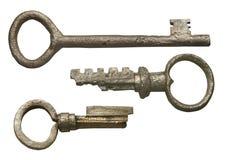 D'isolement réglé des clés antiques Photo libre de droits