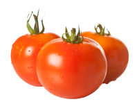 d'isolement trois tomates blanches Photo stock