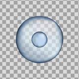 3d isolerade den blåa cellen för människan Realistisk vektorillustration Mall för medicin och biologi stock illustrationer