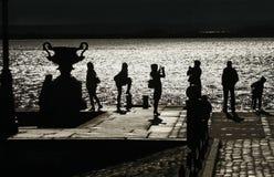 3d isolerade objektfolksilhouettes Royaltyfri Foto