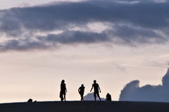 3d isolerade objektfolksilhouettes Royaltyfria Bilder