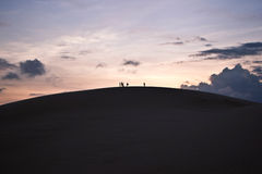 3d isolerade objektfolksilhouettes Arkivbild