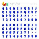 3d isometric abecadła wektorowa chrzcielnica Isometric listy, liczby i symbole, trójwymiarowa akcyjna wektorowa typografia dla Obraz Stock