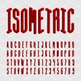 3D isometric alphabet vector font. Stock Photos