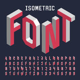 3d isometric alphabet vector font. Isometric letters, numbers and symbols. Three-Dimensional stock vector typography for headlines, posters etc stock illustration