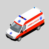 3D isometric ambulance car isolated. Vector illustration Royalty Free Stock Images