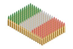 3D Isometric bullet, Italy national flag shape concept design illustration. Isolated on white background stock illustration