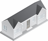 3d Isometric Bungalow Royalty Free Stock Images