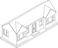 3d Isometric Bungalow Royalty Free Stock Image