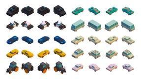 3D Isometric Cars Stock Photo