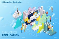 3d isometric cloud computing vector illustration