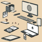 3d Isometric devices vector set. 3d Isometric devices vector for yor ideas Stock Photography