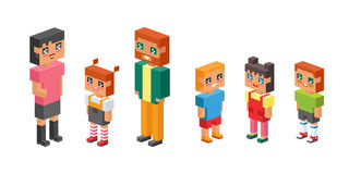 3d isometric family couple children kids people concept flat icons flirting love first date parenting together vector. 3d isometric family couples children, kids Royalty Free Stock Photography