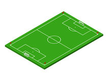 3D isometric football soccer field Royalty Free Stock Images