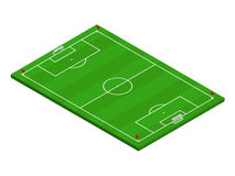 3D isometric football soccer field Royalty Free Stock Photo