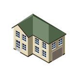 3D Isometric House Royalty Free Stock Image