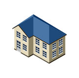 3D Isometric House Royalty Free Stock Images