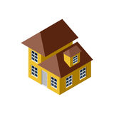 3D Isometric House Royalty Free Stock Photography