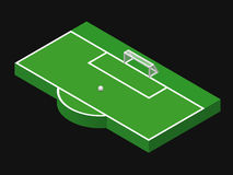 3D isometric illustration of football goal Stock Images