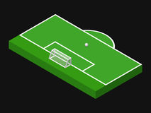 3D isometric illustration of football goal stock illustration