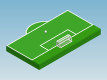 3D isometric illustration of football goal Royalty Free Stock Photo