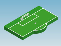 3D isometric illustration of football goal Stock Photo