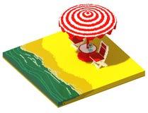 3d isometric kawiarnia na plaży royalty ilustracja