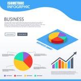 3D isometric Pie chart 4 option design element. 3D isometric Pie chart 4 different color option design element Stock Photography