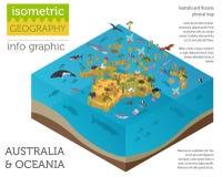 3d isometrici Australia e la flora e la fauna di Oceania tracciano gli elementi royalty illustrazione gratis