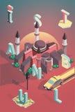 3d isometrische vectorillustratie Istanboel Stock Illustratie