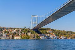 D'Istanbul pont en second lieu Bosphorus Photo stock