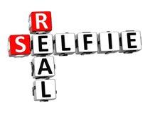 3D Istny Selfie na białym tle Crossword Fotografia Stock