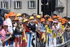d'Italia 2009 del giro - muchedumbre de los ventiladores Fotos de archivo libres de regalías
