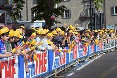 d'Italia 2009 do Giro - multidão dos ventiladores Fotos de Stock