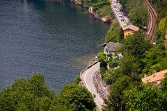 d'Italia 2011 del giro en el lago Como (26/05/2011) Imágenes de archivo libres de regalías