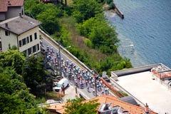 d'Italia 2011 del giro en el lago Como (26/05/2011) Fotos de archivo libres de regalías