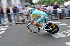 d'Italia 2012 van de giro - proef van de Tijd van Milaan de laatste Stock Afbeelding