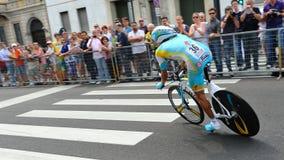 d'Italia 2012 van de giro - proef van de Tijd van Milaan de laatste Stock Afbeeldingen