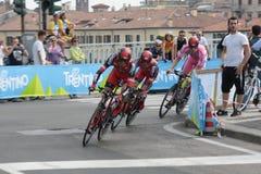 d'Italia de chèques postaux - BMC EMBALLANT l'équipe Photo libre de droits