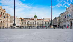 d'Italia di Unità della piazza a Trieste Immagini Stock