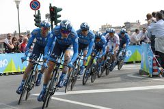 d'Italia do Giro - equipe do BANCO de SAXO Fotos de Stock