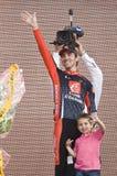 d'Italia van de giro: David Arroyo tweede op het podium Royalty-vrije Stock Fotografie